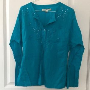 Tommy Hilfiger Turquoise Blue Tunic- new